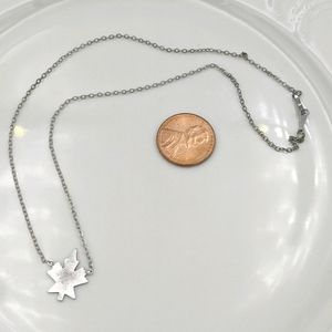 Sterling Silver Maple Leaf Canada Necklace